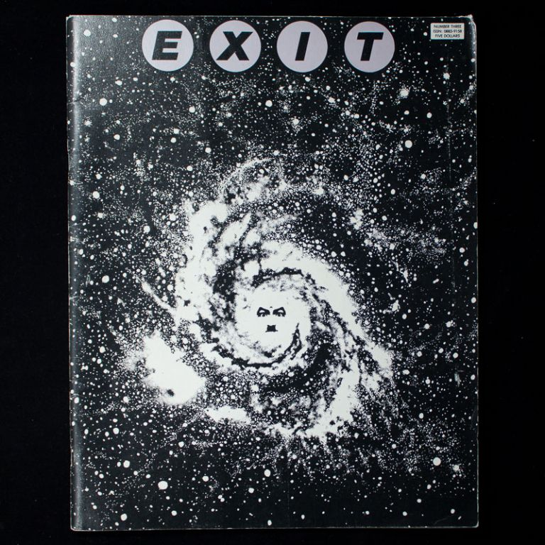 Exit. Adam Parfrey, George Petros, Richard Kern, Mark Mothersbaugh, Lydia Lunch, contributors.
