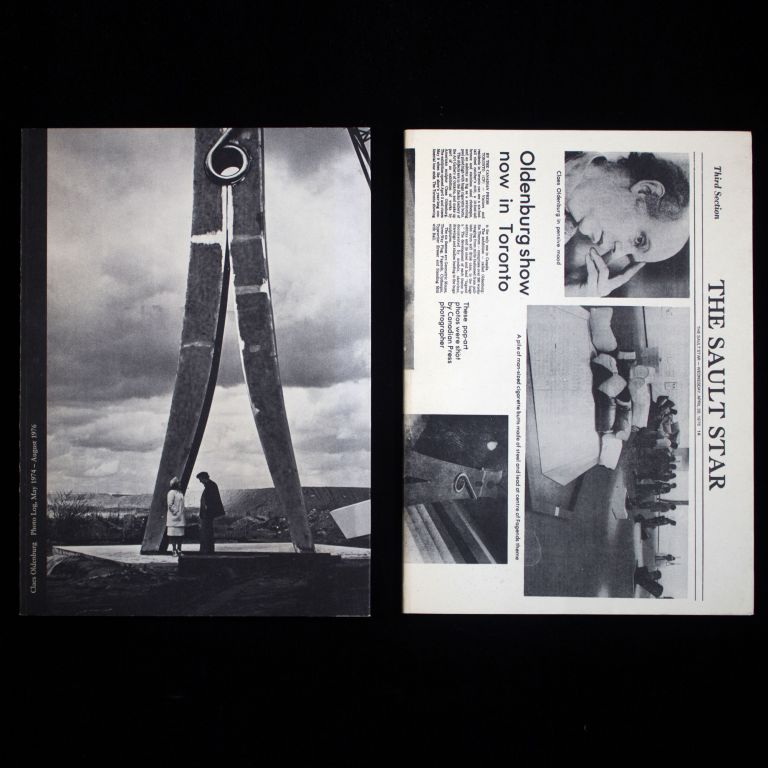 Photo Log May 1974 - August 1976; Press Log May 1974 - August 1976. Claes Oldenburg.