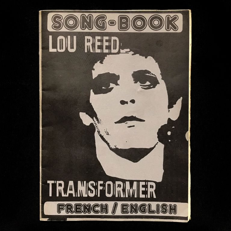 Lou Reed Transformer Song-Book. Lou Reed.