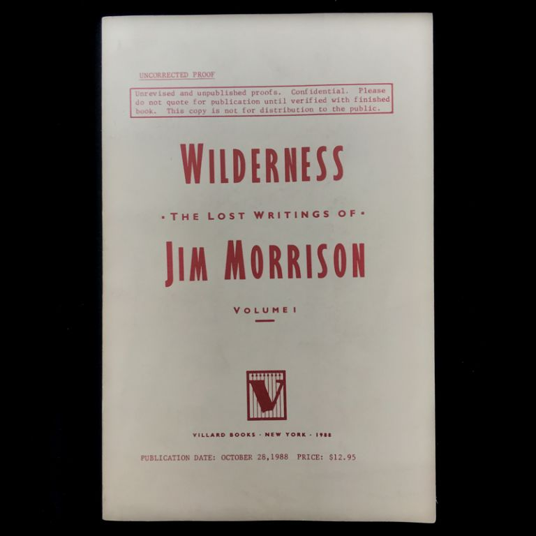 Wilderness. Jim Morrison.