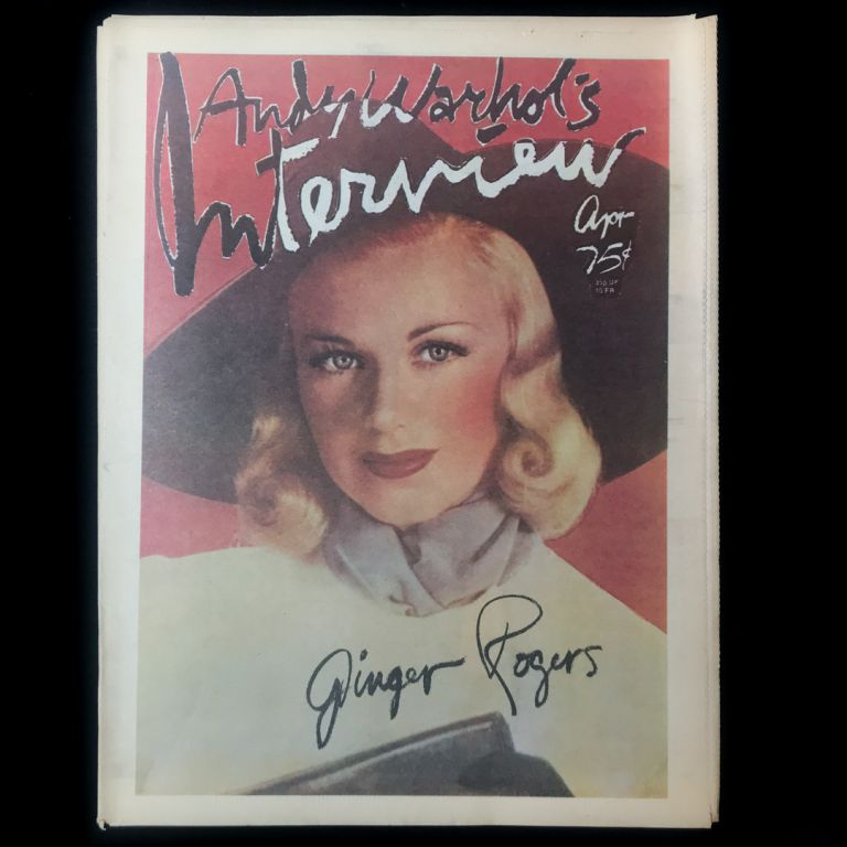 Interview. Ginger Rogers, Andy Warhol.