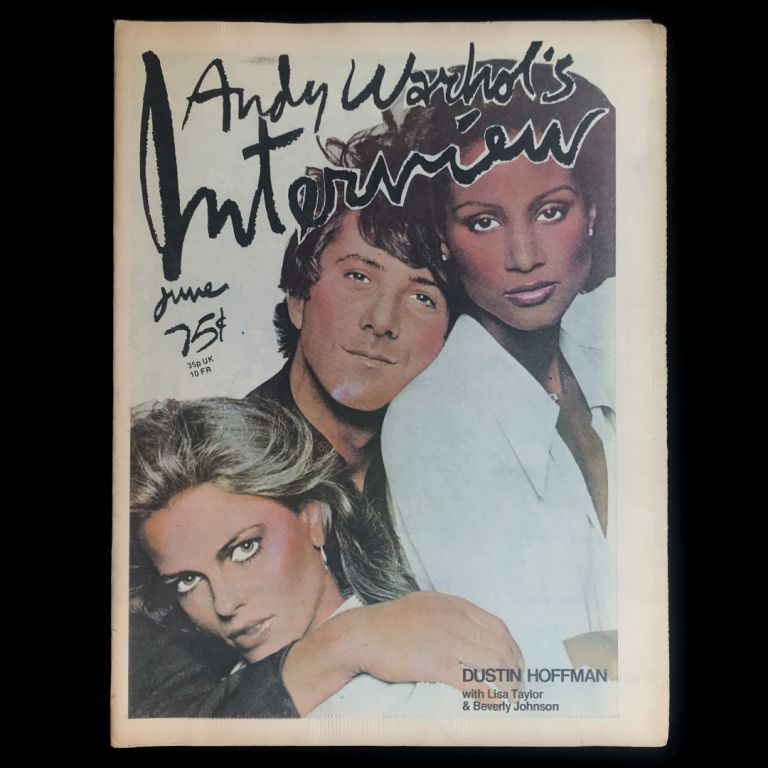 Interview. Dustin Hoffman, Lisa Taylor, Beverly Johnson, Andy Warhol.