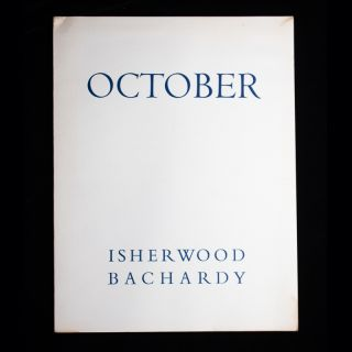October. Christopher Isherwood, Don Bachardy, drawings