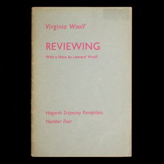 Reviewing. Virginia Woolf