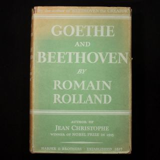 Goethe and Beethoven. Romain Rolland