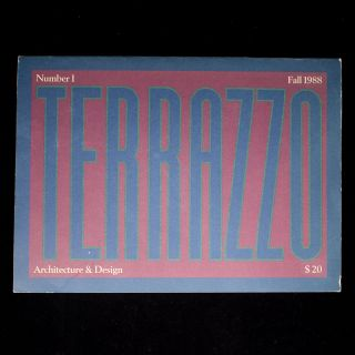 Terrazzo. Architecture and Design. Barbara Radice, and publisher