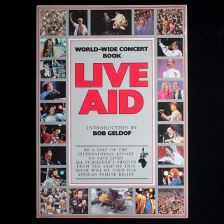 Live Aid. Peter Hillmore, Bob Geldof, introduction