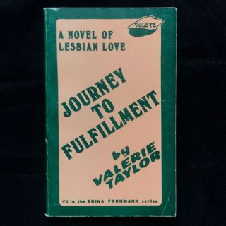 Journey to Fulfillment. Valerie Taylor, pseud. of Velma Tate