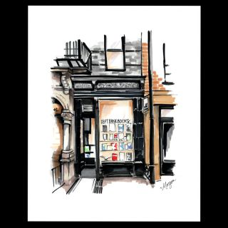 Left Bank Books signed print. Left Bank Books, Morgan Swank Studio
