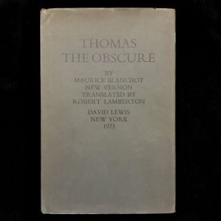 Thomas the Obscure. Maurice Blanchot, Robert Lamberton