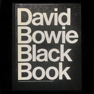 David Bowie Black Book. David Bowie, Miles, Pearce Marchbank, text, design
