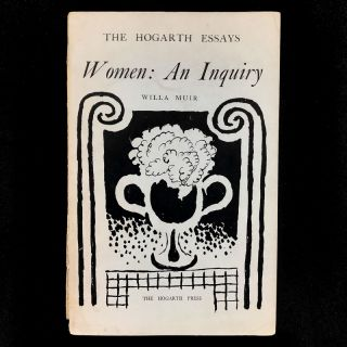Women: An Inquiry. Willa Muir, Vanessa Bell, cover