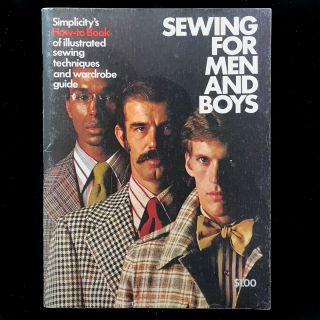 Sewing for Men and Boys. Simplicity Pattern