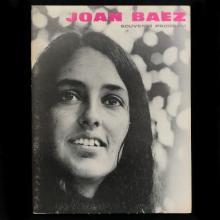 Presenting Joan Baez. Joan Baez, Benny Green, Barry Olivier, program notes, designer