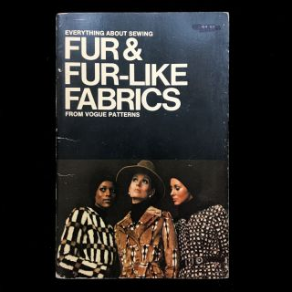Everything About Sewing Fur & Fur-Like Fabrics from Vogue Patterns. Butternick Fashion Marketing