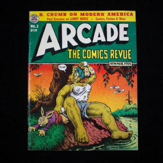 Arcade: The Comics Revue. Art Spiegelman, Bill Griffith, Robert Crumb, Paul Krassner, contributors.