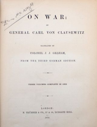 On War: by General Carl von Clausewitz