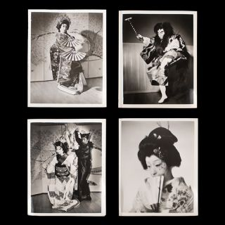 [Group of ten publicity photos of the Azuma Kabuki Dancers and Musicians]. Hurok Attractions, Azuma Kabuki Dancers, Musicians, Japanese Ministry of Foreign Affairs.